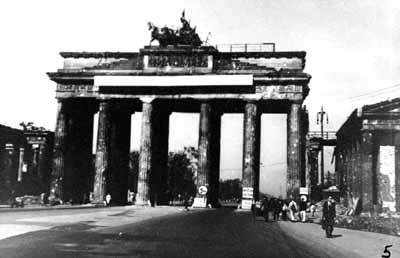 WWII Kilroy Was Here Berlin Bombed  The Brandenburg Gate
