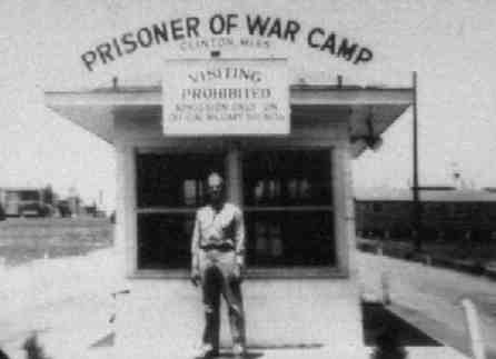 WWII Kilroy Was Here Clinton MS German POW Camp Main Gate 1942