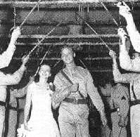 WWII Kilroy Was Here Marianna Bride and Groom