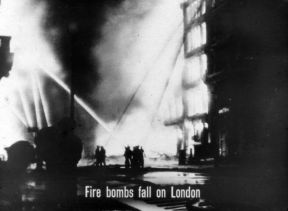 FIRE BOMBS FALL ON LONDON