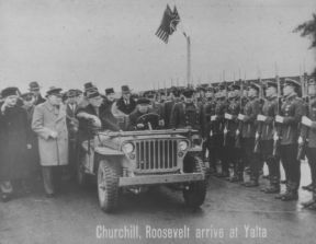 CHURCHILL, ROOSEVELT ARRIVE AT YALTA