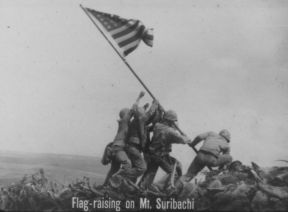 FLAG-RAISING ON MT. SURIBACHI
