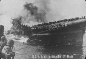 U. S. S. FRANKLIN DISASTER OFF JAPAN